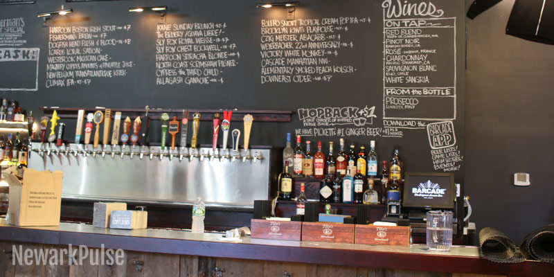 Barcade beer and wine on tap