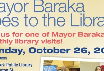 Mayor Baraka goes to the Library