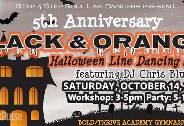 Soul Line Dance Party (Black and Orange)