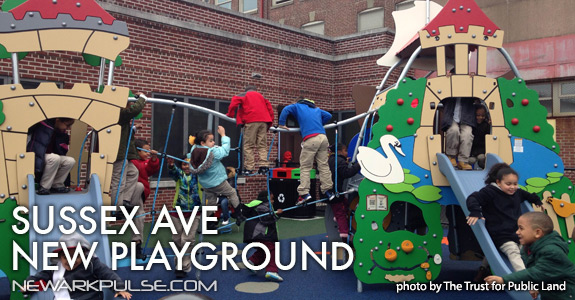 New Playground at Sussex Ave Renew School