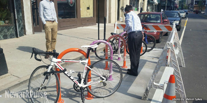Bike Corral Comes to Halsey Street