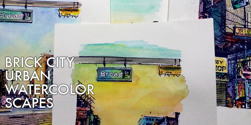 Art Seen: Brick City Urban Watercolor Scapes
